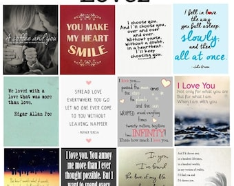 Love, #1-2, Quotes, Planner Stickers, Inspiration, The Notebook, Family, Smile, Twilight, Stars, Horizontal, ECLP, Plum Paper Planner