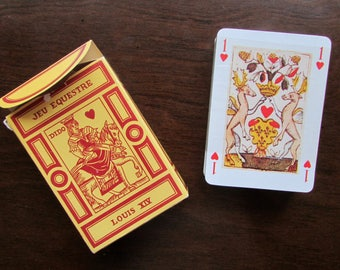 Louis XIV Playing Cards 1970s Editions Dusserre, Paris Reprint of 1600s Deck Jeu Equestre Louis XIV