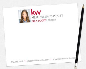 Keller Williams real estate stationery  - thick, matte - FREE UPS ground shipping