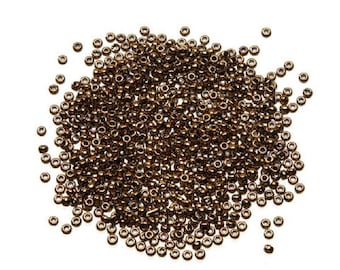Toho® Japanese Glass Seed Beads - 11/0 2.2mm - Bronzed Gold - 8g