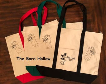 I Think I Smell A Rat - Canvas Tote Bags