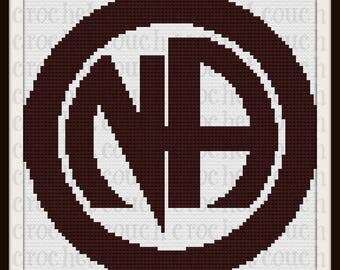 Narcotics Anonymous Afghan, C2C Graph, with Row by Row Word Chart