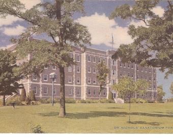 Vintage Postcard....Missouri, Savannah, Dr. Nichol's Sanatorium for Cancer...Unused...MO0006