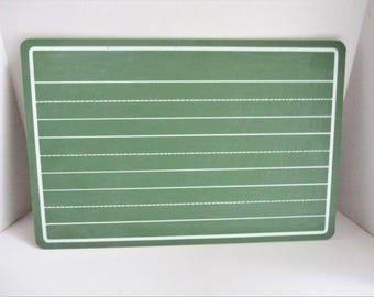 Vintage Chalkboard Green Schoolhouse White Lines