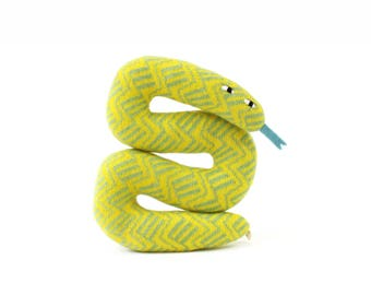 Sylvie the Snake - soft knitted lambswool toy, kids toy, plush toy