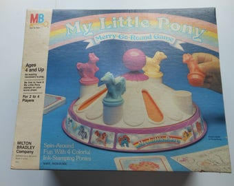 MLP My Little Pony Merry-Go-Round Board Game 1985