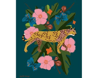 King Cheetah Art Print 8 x 10