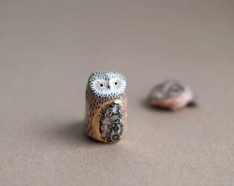 Sacred Owl Totem: Leopard Skin Jasper