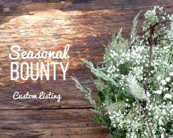 Deposit Listing - (2 of 2) - Custom Baby's Breath & Twig Wedding Package for Courtney