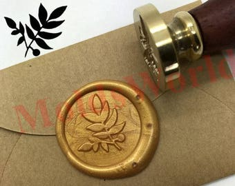Leaf Wax Seal Stamp Kit Sealing Wax Stamp Kits Custom Wax Seal Gift Box Package S1369