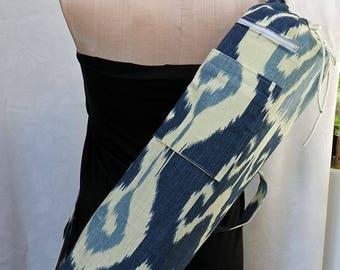 Yoga Mat Bag - Pilates Mat Bag - Abstract Blue - READY TO SHIP!