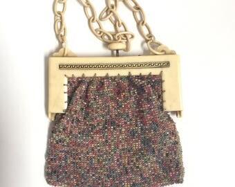 1910s 1920s beaded bag