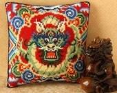Oriental Dragon Mini Cushion Cross Stitch Kit