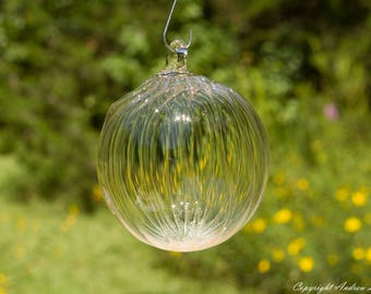 OOAK Hand blown Borosilicate Glass Christmas ornament O57