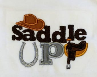 Saddle up  embroidered t shirt for boys- western top boys and girls