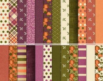 "Pumpkin Patch Digital 12x12"" Papers"