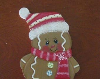Gingerbread, Christmas, ornament, magnet, teacher's gift, home decor, wood, handpainted, hostess gift