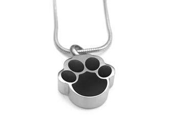 Cremation Necklace, Pet Urn, Dog Paw Urn Locket, Ashes Holder Necklace, Cremation Locket, Memory Locket, Cremation Jewelry