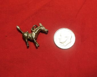 Vintage Donkey with attitude Sterling Charm