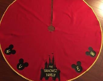 disney christmas tree skirt christmas skirt tree skirt felt christmas skirt - Disney Christmas Tree Skirt