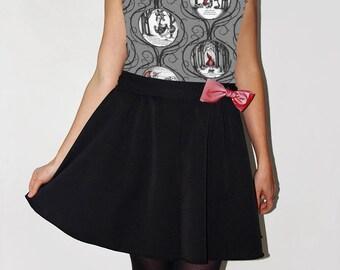 Dress sleeveless, gabardine and Little Red Riding Hood