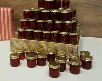 Mini mason jar Jam favors, Weddings, Showers, Party  Mix & Match flavors!