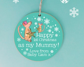 Baby's first Christmas tree decoration, Personalised Tree Decoration, 1st christmas bauble, First Christmas Keepsake, New Mum, Mummy's 1st