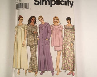 Pull Over Dress Muu Muu Tent Sleepwear Nightgown Sewing Pattern Size BB Large Xl Simplicity 9012 Uncut and Factory Folded  UC FF