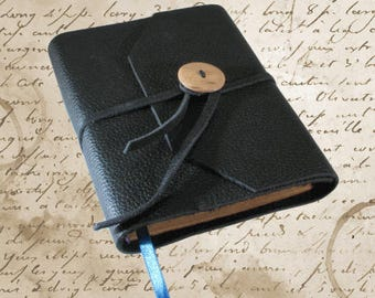 Hand Bound Black Leather Journal or Sketchbook - Limited Edition