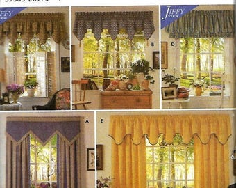 ON SALE Simplicity 7885 Home Decorating Curtains and Valance Sewing Pattern, Window Treatments, UNCUT