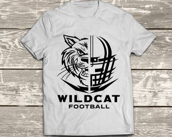 Wildcat Football Instant Download Files - SVG, DXF, EPS, Silhouette Studio, Vinyl Cut Files, Digital Cut Files -Use Cricut and Silhouette