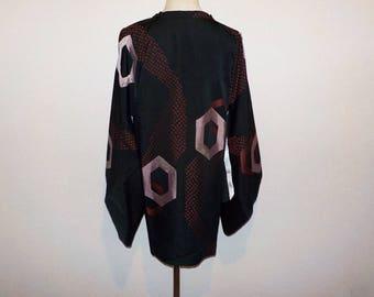SALE 30%off!! - Vintage michiyuki - Hexagon and dots