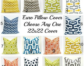 15% Off Sale Euro Pillow Covers 22x22 Pillow Covers Floor Pillow Covers Floor Cushions ONE Sham Euro Pillow Sham Floor Pillow Door room prin