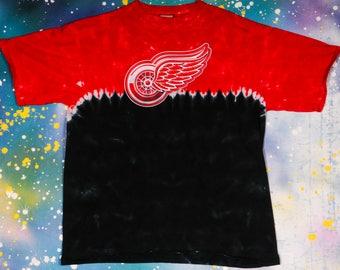 Detroit RED WINGS Tie Dye sports T-Shirt Size  XL