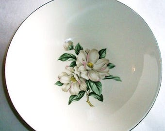 ON SALE Vintage Rhythm Magnolia RY217 Homer Laughlin Vegetable Bowl Shabby Chic, Cottage Chic, China Bowl