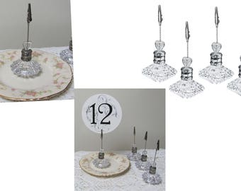 8 Wedding Table Number Holders, Party Table Number Holders, Party Sign Holders,  Photo Holders or Unique Event Place Card Holders
