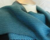 Handwoven Tencel scarf aq...