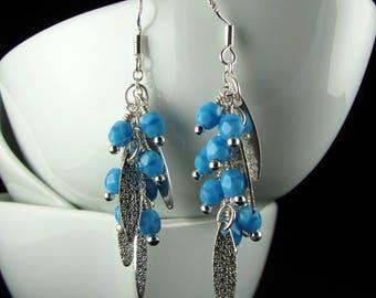 Blue Czech Glass Earrings