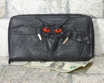 Wallet Zippered Slim Woman Black Leather Clutch Credit Card Holder Monster Harry Potter Labyrinth 228