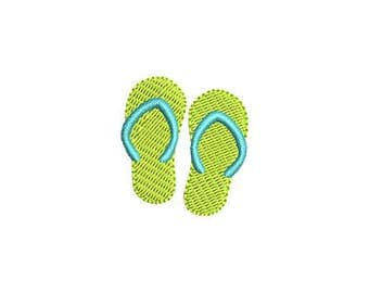 Mini Flip Flop Machine Embroidery Design - Instant Download