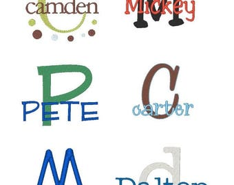 ON SALE Boys Embroidery Font Set - Instant Download