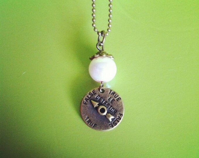 Pal pink Necklace Bead lie detector brass chain necklace