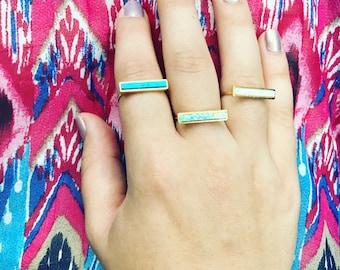 Opal Bar Ring