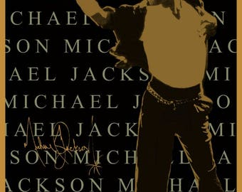 Michael Jackson 24 x 36 1993 Reproduction Dangerous Tour Bangkok Poster - Entertainer Singer King Of Pop R&B Music Concert Collectibles Gift