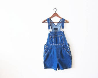 Overall Shorts / Shortalls / Women Denim Overalls / Short Overalls / Jean Overalls / Overalls Shorts / 90s Clothing / Vintage Overalls