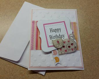 Birthday card for cat lover