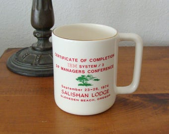 Rare, 1974 IBM System /3  Managers Conference Coffee Mug, Excellent Shape!