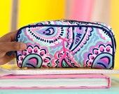 Personalized Pencil Case, Monogram Pencil Pouch, Pencil Holder, Pencil Bag, Pencil Box, School Supplies, Back to School, Utensil Pouch