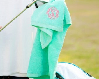 Gifts for Golfers, Personalized Golf Towel, Personalized Gifts, Monogram Golf Towel, Golf Accessories, Golf Gifts for Women, Gifts under 20
