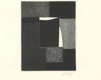 Bertrand Dorny-Untitled IV-1974 Etching-SIGNED